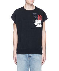 Facetasm | Logo Patchwork Cotton T-Shirt
