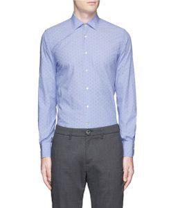 Lardini | Dot Jacquard Cotton Shirt