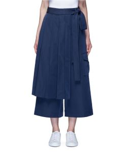 Angel Chen | Kendo Pleated Warp Front Wide Leg Trousers