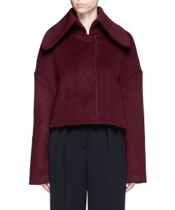 Xiao Li | Fly Back Felted Wool Blend Cropped Jacket