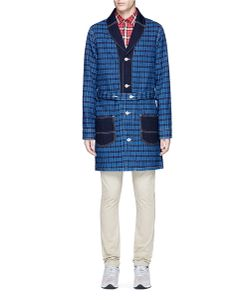 Fdmtl | Windowpane Seersucker Hopsack Coat
