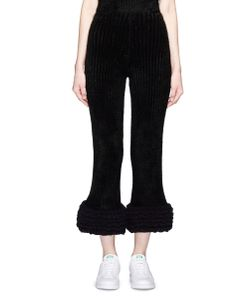 Xiao Li | Lusso Knotted Rib Knit Flare Pants