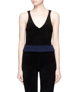 Xiao Li | Lusso Knotted Rib Knit V-Neck Tank Top