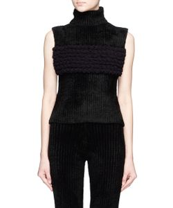 Xiao Li | Lusso Knotted Sleeveless Turtleneck Top