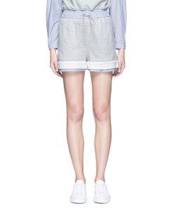 3.1 Phillip Lim | Stripe Poplin Trim French Terry Shorts