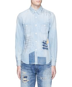 Fdmtl | Boro Patchwork Sashiko Stitch Denim Shirt