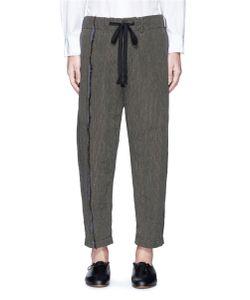 Uma Wang | Pigiama Stripe Linen-Cotton Pants