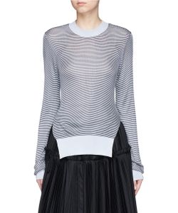Jourden | Stripe Cutout Back Sweater