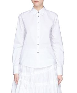 Jourden | Pleated Cutout Sleeve Poplin Shirt