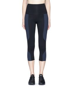 Live The Process | Geometric Foldable Waist Cropped Performance Leggings