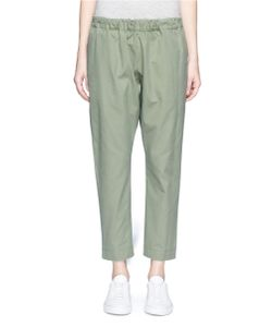 Bassike | Shoelace Drawcord Canvas Cropped Pants