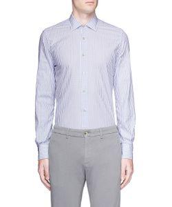 Lardini | Stripe Jacquard Cotton Shirt
