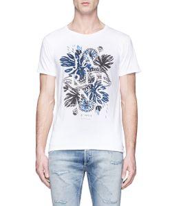 Scotch & Soda   Tropical Print Cotton T-Shirt