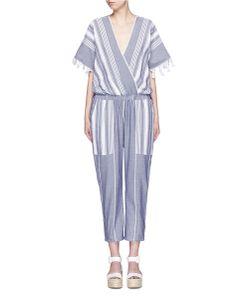 Koza | Merry Variegated Herringbone Stripe Jumpsuit