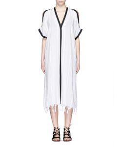 Koza | Tauba Shoulder Cutout Tassel Cover-Up Dress
