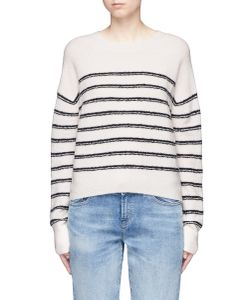 Vince | Stripe Textu Wool Blend Knit Sweater
