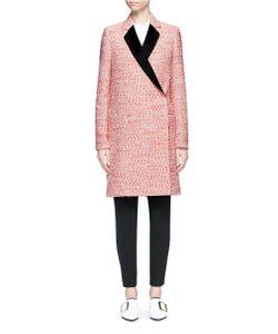 Victoria Beckham | Satin Lapel Marled Bouclé Tailo Coat