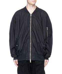 Unravel | Oversized Cotton Poplin Bomber Jacket