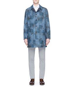 Lardini | Reversible Tree Print Cotton-Linen Coat
