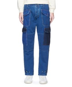 Bleu De Paname | Washed Patchwork Denim Pants
