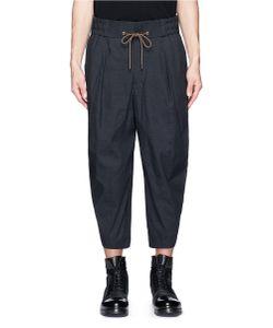 Devoa | Drop Crotch Hopsack Cropped Pants