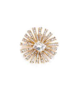 Kenneth Jay Lane | Glass Crystal Plated Starburst Brooch