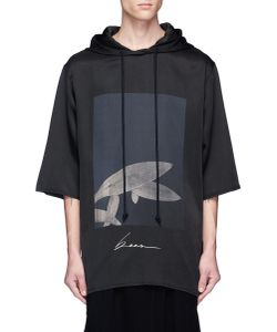 Song For The Mute | Beau Print Raw Edge Hoodie