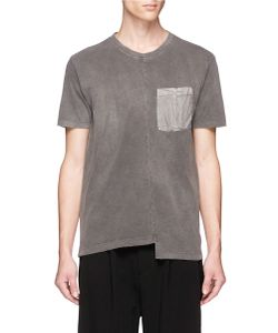 The Viridi-Anne | Stagge Hem Washed Cotton Jersey T-Shirt