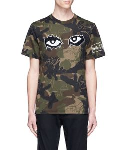Haculla | You See Nothing Eye Embroide Camouflage Print T-Shirt