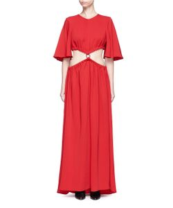Ellery | Solar System Ruched Cut-Out Maxi Dress