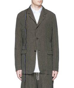 Uma Wang | Simba Stripe Linen-Cotton Soft Blazer