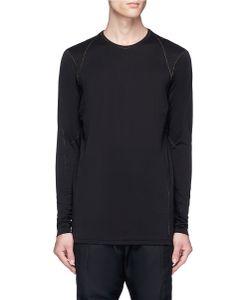 Devoa | Contrast Stitching Long Sleeve T-Shirt