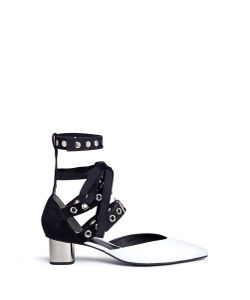 Self-Portrait | X Robert Clergerie Susa Eyelet Strappy Patent Leather Pumps