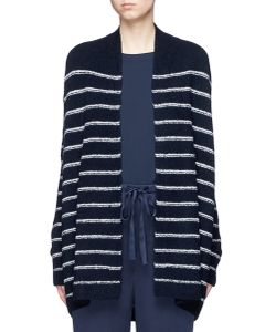 Vince | Stripe Textu Wool Blend Knit Cardigan