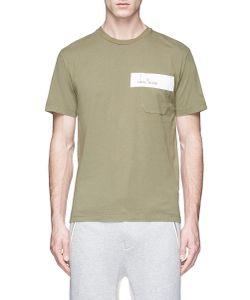 Stone Island   Logo Print Garment Dye T-Shirt