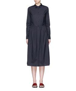 Vince | Gathe Waist Cotton Poplin Dress