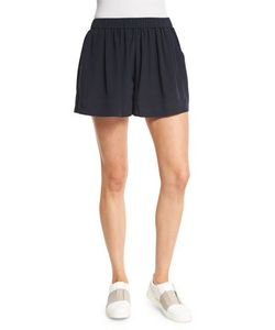 Vince | Pleated Silk Pull-On Shorts
