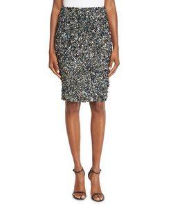 Haute Hippie | Mosaic Sequin-Embellished High-Waist Skirt