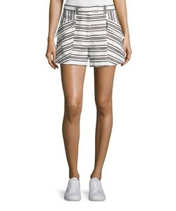 A.L.C. | Hamilton Striped Shorts