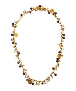 Ashley Pittman | Kito Garnet Horn Bronze Beaded Link Necklace