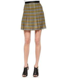 Ohne Titel | Striped Pleated Silk Skirt