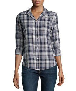 Frank & Eileen   Barry Button-Front Plaid Shirt