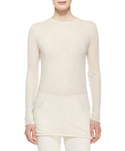 The Row   Long-Sleeve Cashmere Tissue Top