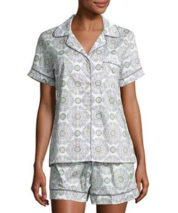 Bedhead | Medallion-Print Shorty Pajama Set Grey/Multi