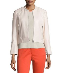 rag & bone/JEAN | Astor Leather Zip-Front Jacket Blush