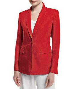 Lafayette 148 New York | Mackenzie Lavish One-Button Linen Jacket