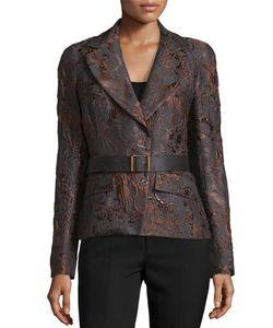 Donna Karan | Narrow Belted Jacket