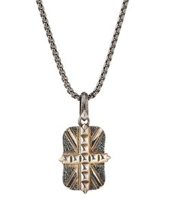 Stephen Webster | Mens Studded Union Jack Dog Tag Necklace