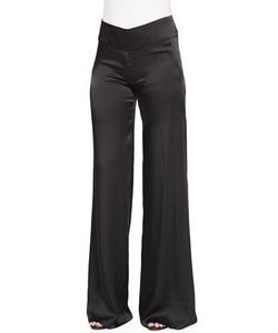 Donna Karan | High-Waist Wide Fluid Pants