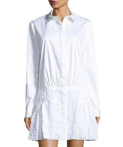 Thakoon | Shirtdress W/ Eyelet Skirt